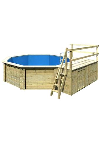 Karibu Achteckpool »Holzpool Gr. 2 Set C« kaufen