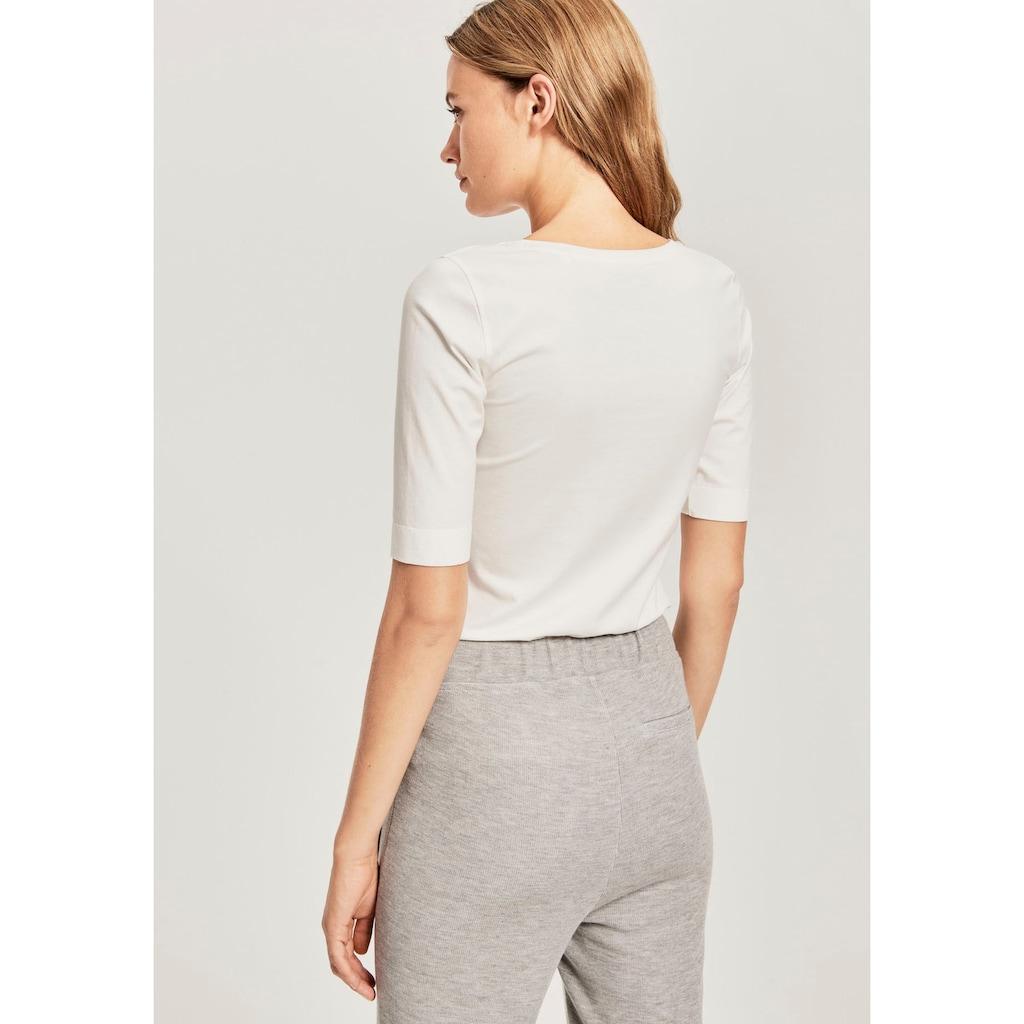OPUS Langarmshirt »Sanika«, im Basic-Look