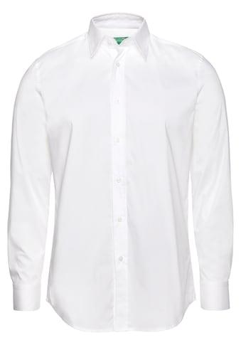 United Colors of Benetton Langarmhemd, unifarben kaufen