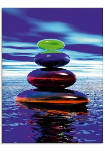 Artland Glasbild »Steinpyramide im Wasser«, Zen, (1 St.) kaufen