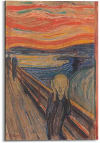 Reinders! Holzbild »Munch - the scream«, (1 St.) kaufen
