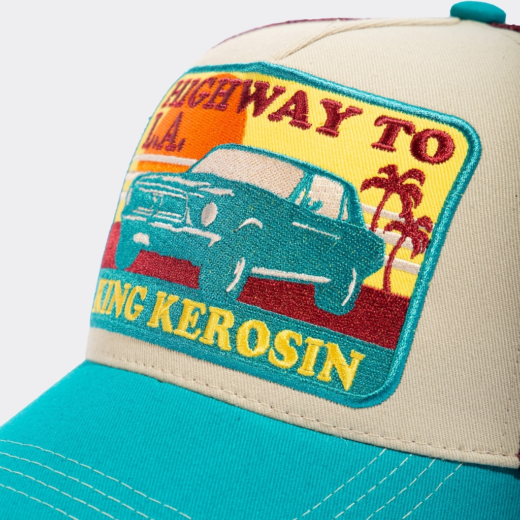 KingKerosin Trucker Cap »Highway to LA«, mit coolem Retro-Patch