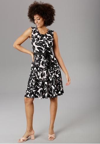 Aniston SELECTED Sommerkleid, mit Bindeband in der Taille - NEUE KOLLEKTION kaufen