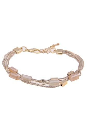 leslii Armband »Glassteine in Gold Beige, 260117020« kaufen