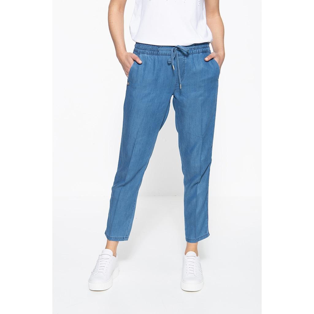 ATT Jeans Schlupfhose »Hannah«, mit Stickerei an den Seitennähten