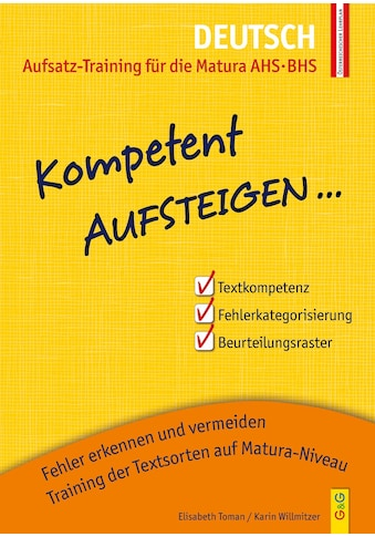 Buch »Kompetent Aufsteigen Deutsch - Aufsatz-Training für die Matura AHS/BHS /... kaufen