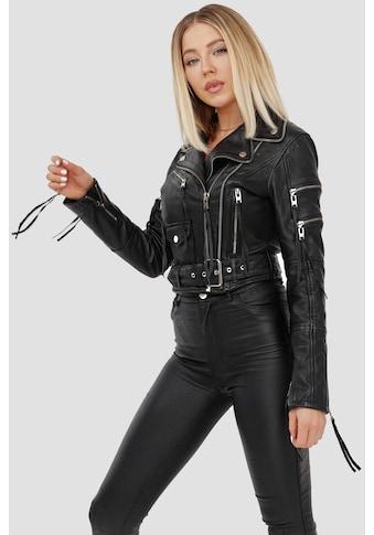 trueprodigy Bikerjacke »Izzy«, mit Reißverschluss und Gürtel kaufen