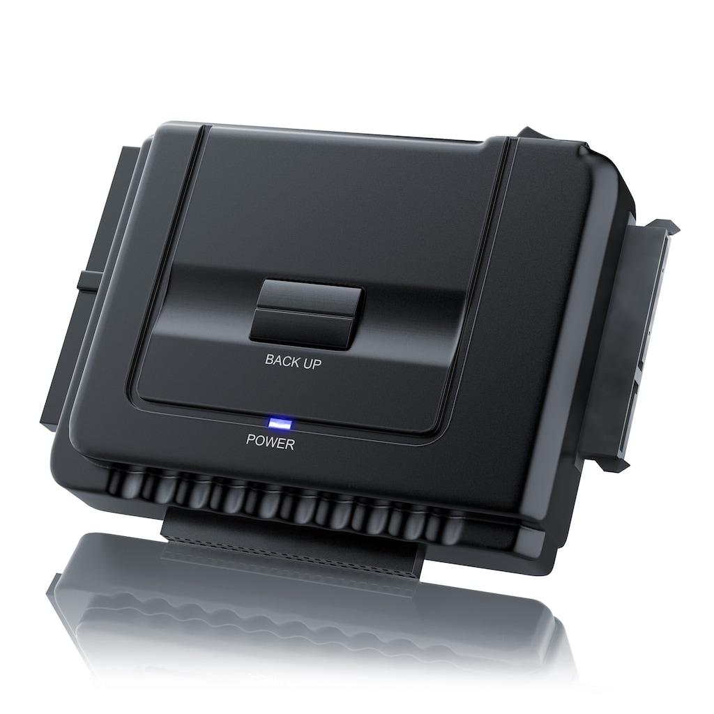 Aplic USB 3.0 zu SATA / IDE Festplatten Adapter »für SATA / IDE Festplatten & CD / DVD Laufwerke«