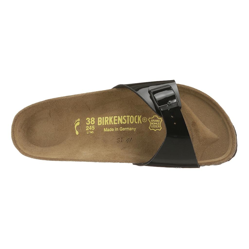 Birkenstock Pantolette »MADRID«, in schmaler Schuhweite, Lack-Optik!