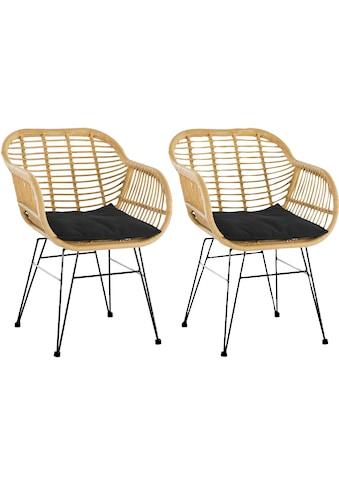 SalesFever Stuhl, aus wetterfestem Kunststoffgeflecht in Rattanoptik kaufen