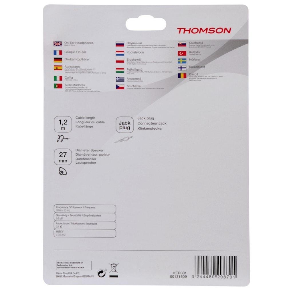 Thomson HED1115BK Kopfhörer, On-Ear, ultraleicht, Schwarz