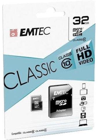 EMTEC Speicherkarte »microSDClass10 Classic«, ( Class 10 30 MB/s Lesegeschwindigkeit) kaufen