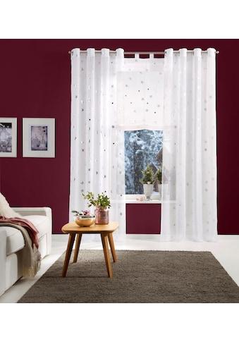 Gardine, »Sterne«, my home, Ösen 2 Stück kaufen
