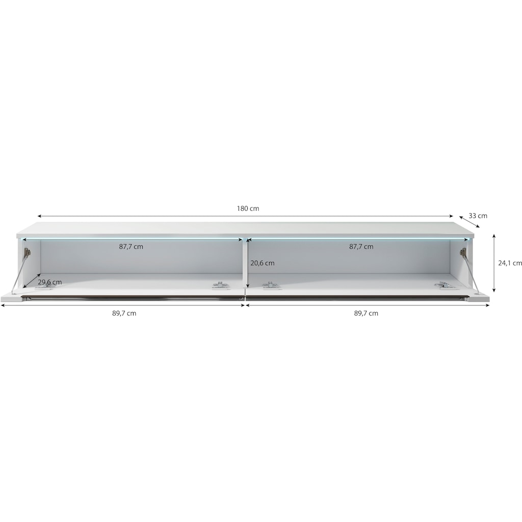 INOSIGN Lowboard, Breite 180 cm
