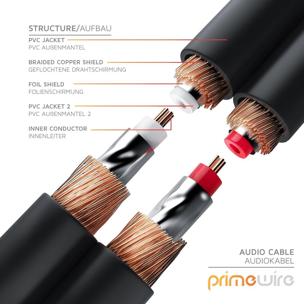 Primewire Stereo-Cinch HiFi Audio-Kabel mehrfach geschirmt