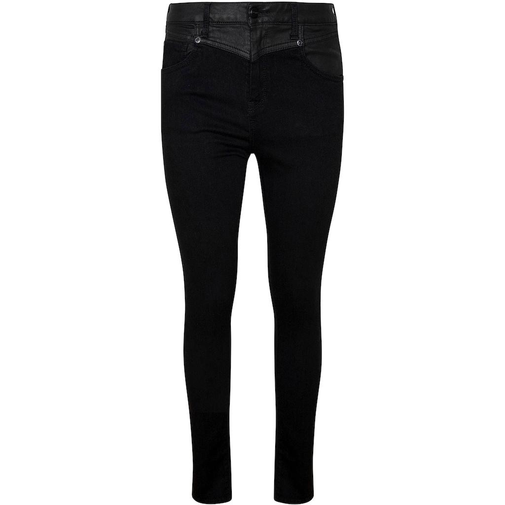 Pepe Jeans Slim-fit-Jeans »DION MIX«, mit hohem Bund, Materialmix und Stretch-Anteil