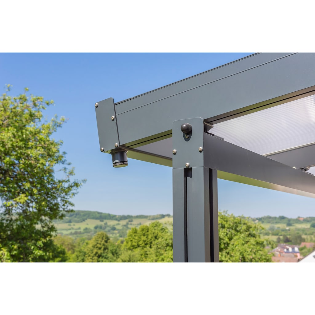 GUTTA Terrassendach »Premium«, BxT: 611x406 cm, Dach Polycarbonat Opal