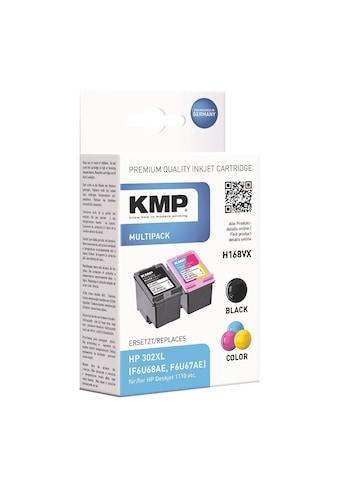 KMP Tintenpatronen-Set ersetzt HP Nr. 302XL schwarz, cyan, magenta kaufen