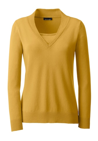 Classic Kaschmir - Pullover in 2 - in - 1 - Form kaufen
