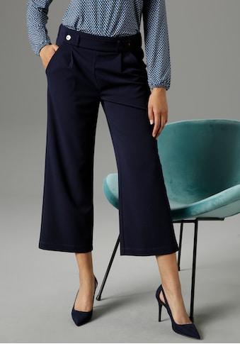Aniston SELECTED Culotte, mit modischer Zierborte - NEUE KOLLEKTION kaufen