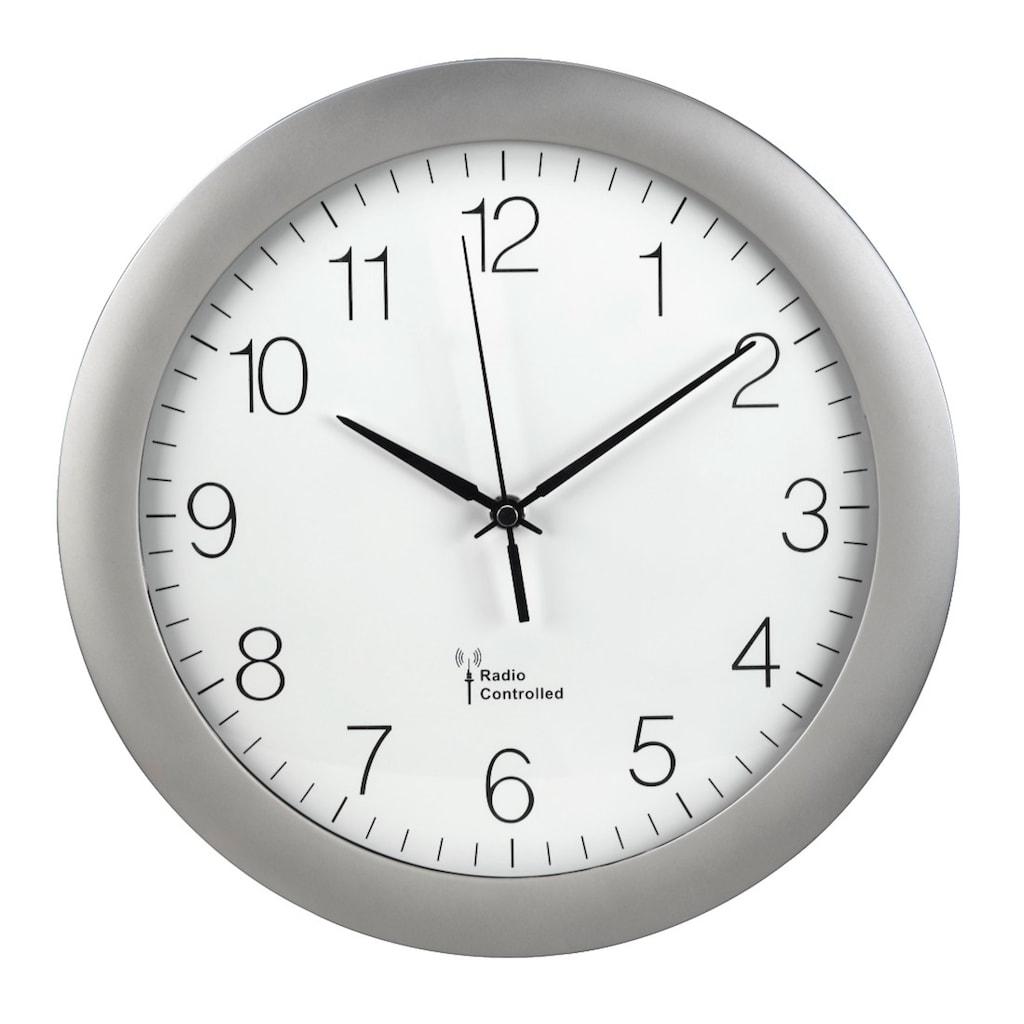 "Hama Wanduhr mit DCF-Funk ""PG-300"", analoge Funkuhr, große Uhr"