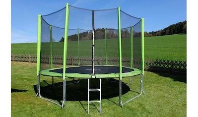 STAMM SPORTS Gartentrampolin, Ø 427 cm, (3), Anti-Roll-Over-Schutz, farbig verkleidete Netzpfosten kaufen