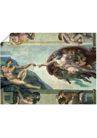 Artland Wandbild »Die Erschaffung des Adam«, Religion, (1 St.), in vielen Größen &... kaufen