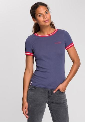 KangaROOS T-Shirt, mit modischen Rippenbünchen kaufen