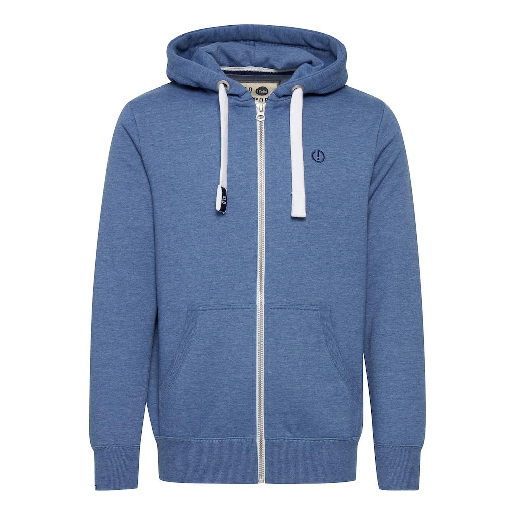 Solid Kapuzensweatjacke »BennZip«, Sweatshirtjacke mit kontrastfarbenenen Details