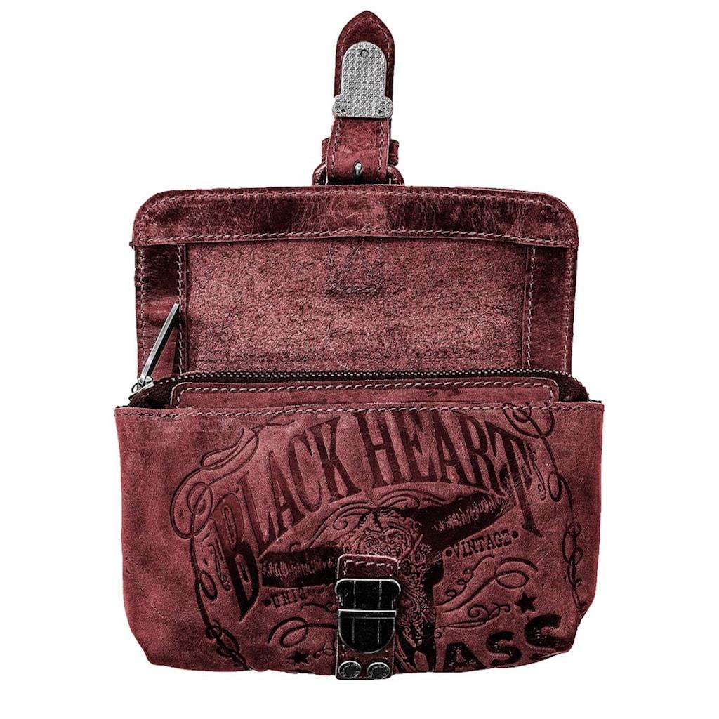 JACK'S INN 54 Gürteltasche »Rock«, Aus Leder immer individuell und garantiert ein Unikat, als Gürteltasche oder Umhängetasche tragbar
