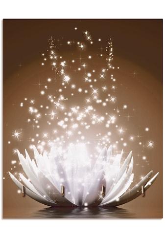 Artland Schlüsselbrett »Magie der Lotus-Blume braun«, aus Holz mit 4 Schlüsselhaken –... kaufen