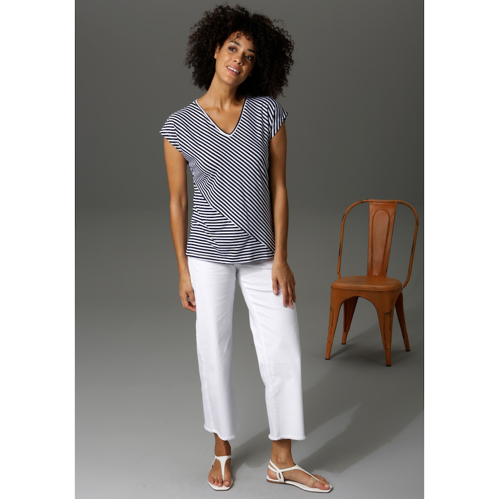 Aniston CASUAL T-Shirt, im Streifen-Mix - NEUE KOLLEKTION