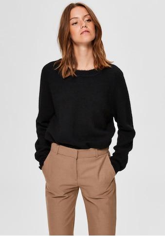 SELECTED FEMME Rundhalspullover »SLFLULU«, aus kuscheligem Wollmix kaufen