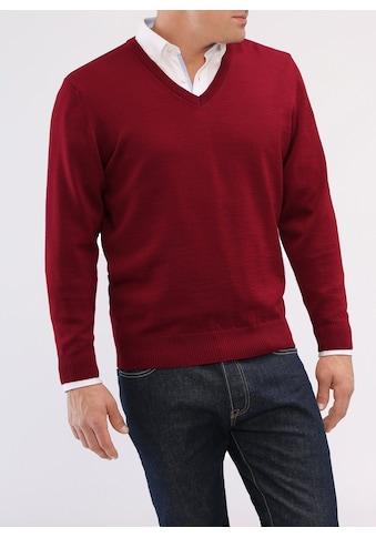 MAERZ Muenchen V-Ausschnitt-Pullover »Merino Superwash«, uni kaufen