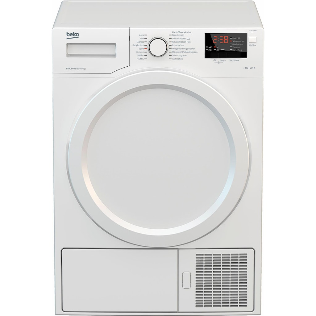 BEKO Wärmepumpentrockner »DS 8433 PA0«, FlexySense