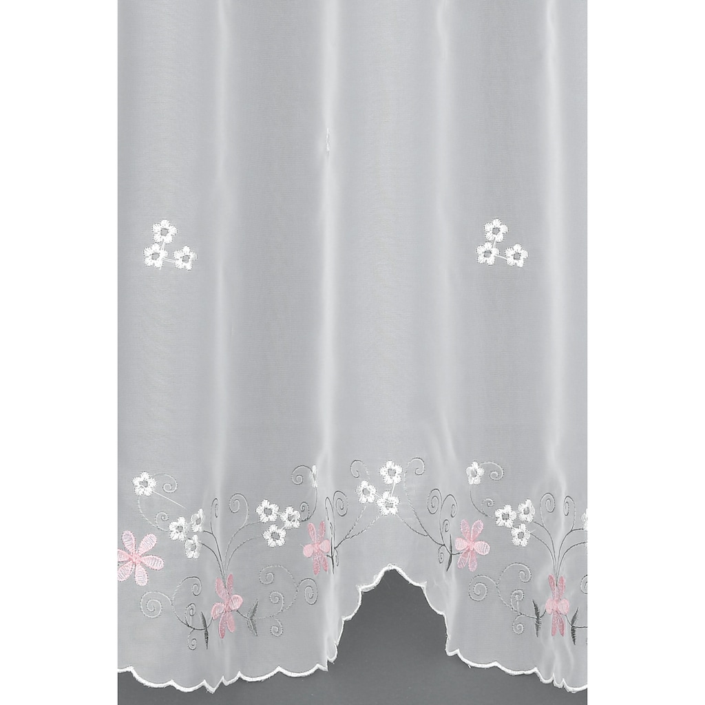 GARDINIA Scheibengardine »Blumen«, HxB: 45x140