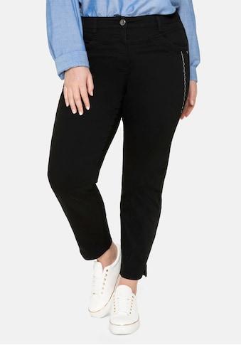 Sheego Stretch-Hose, in Ankle-Länge mit Stickerei seitlich kaufen