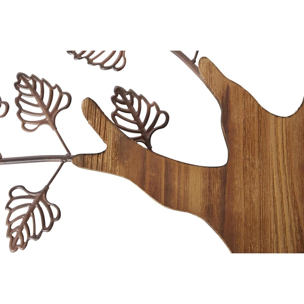 HOFMANN LIVING AND MORE Wanddekoobjekt »Baum«, Materialmix aus Metall und Holz