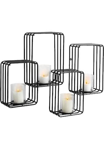 andas Wandkerzenhalter, Kerzen-Wandleuchter, Kerzenhalter, Kerzenleuchter hängend, Wanddeko, für 4 Kerzen kaufen
