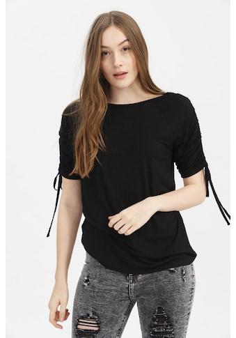 trueprodigy Langarmshirt »Miri«, mit Schnürung an dem Armen kaufen