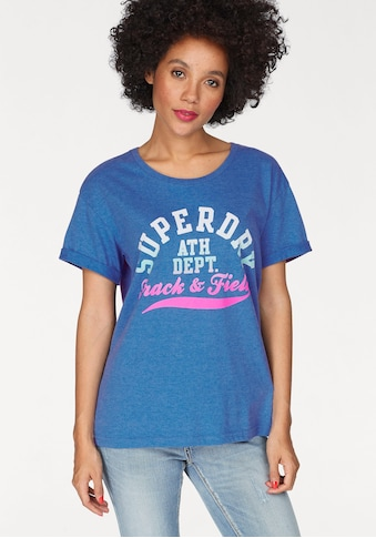 Superdry T-Shirt »TRACKSTER SLIM BF TEE«, mit mehrfarbigem Frontprint kaufen