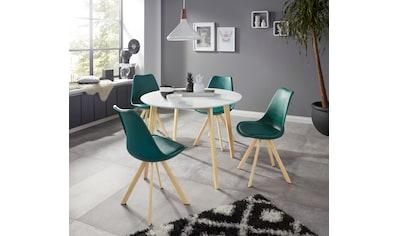 INOSIGN Essgruppe »Levent«, (Set, 5 tlg.), bestehend aus 4 Lazio Stühlen und dem Cody Tisch kaufen