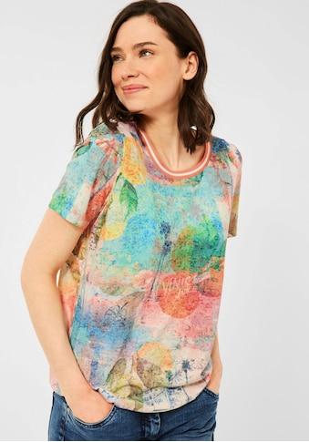 Cecil T-Shirt, mit Druck im Used-Look kaufen