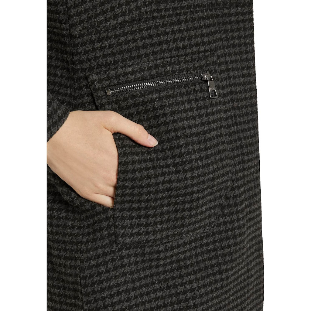 TOM TAILOR Denim Kurzmantel, mit Stehkragen und Reißverschluss-Taschen