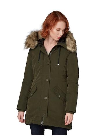 TOM TAILOR Winterjacke, mit abnehmbarem Fell-Imitat an der Kapuze kaufen