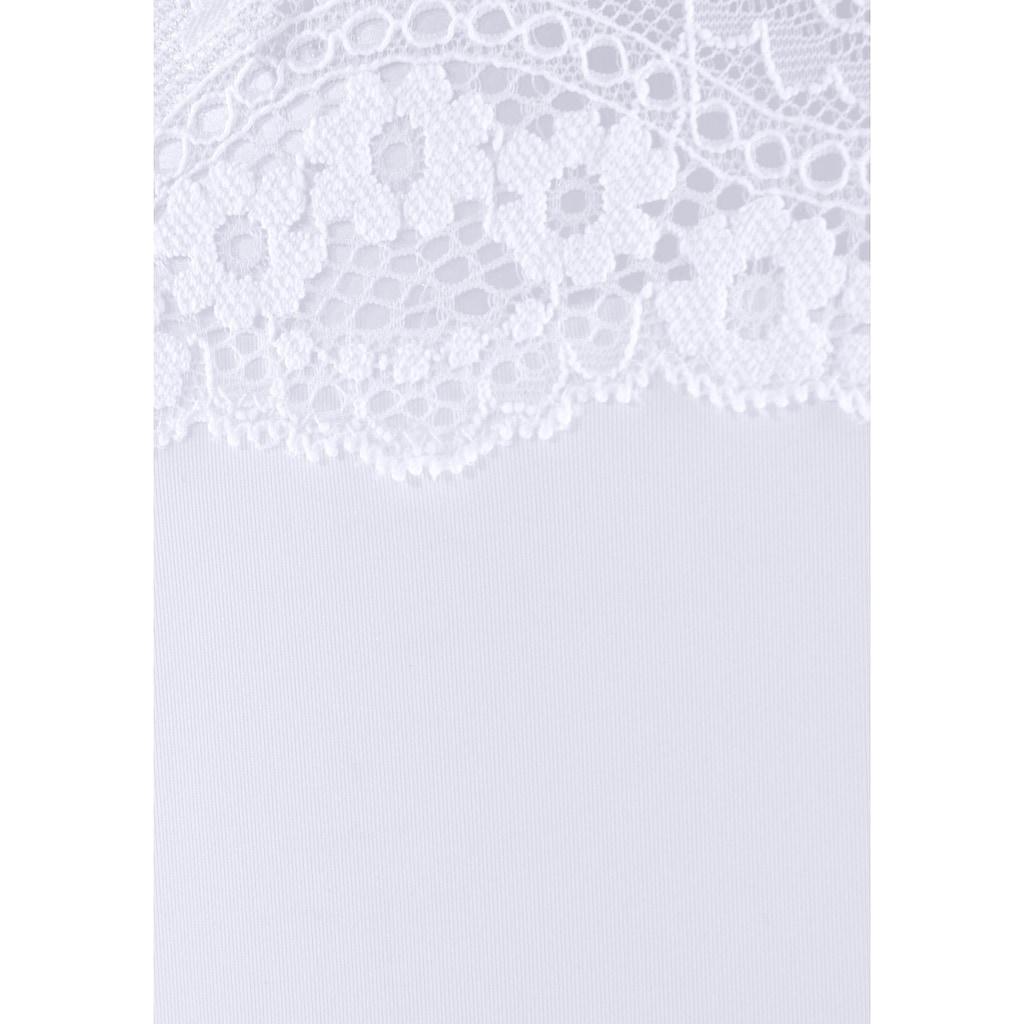 LASCANA String, mit Bund aus zarter, floraler Spitze