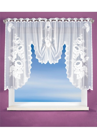 WILLKOMMEN ZUHAUSE by ALBANI GROUP Gardine »Potsdam«, HxB: 100x180, Jacquard Fensterbild kaufen