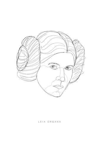 Komar Poster »Star Wars Classic Force Faces Leia«, Star Wars kaufen
