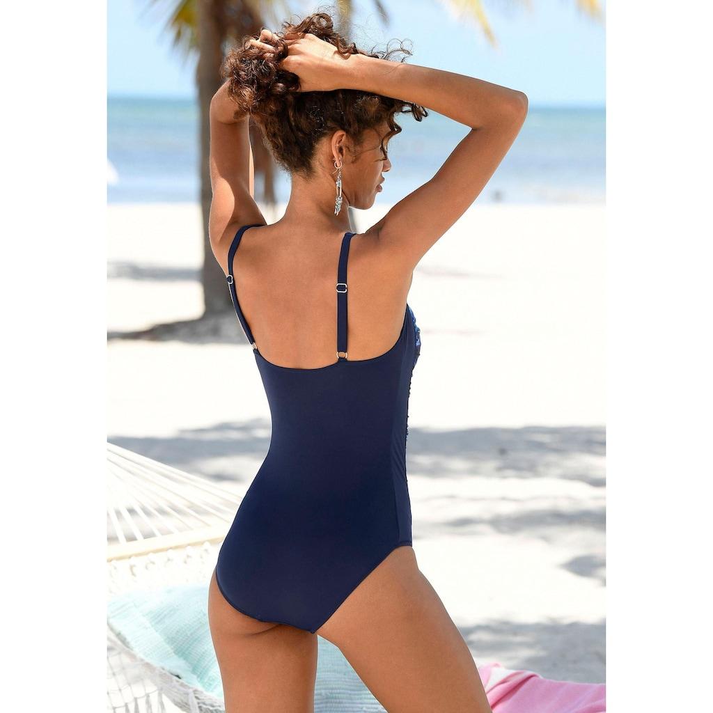 LASCANA Badeanzug, mit Dschungel-Optik