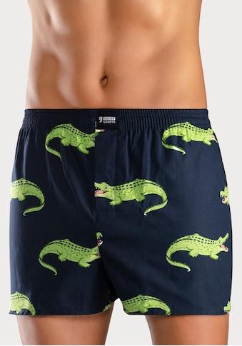 HAPPY SHORTS Webboxer »Krokodil« kaufen